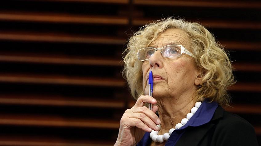 Manuela Carmena, durante uma coletiva de imprensa