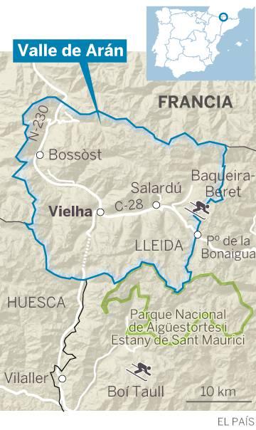 Turistico Valle De Aran Mapa.El Valle De Aran Tambien Quiere Sus Estructuras De Estado