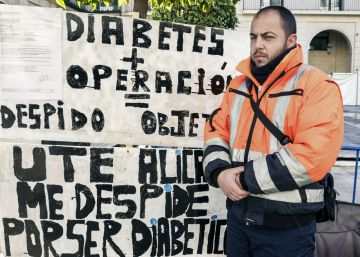 El barrendero despedido por combatir su diabetes