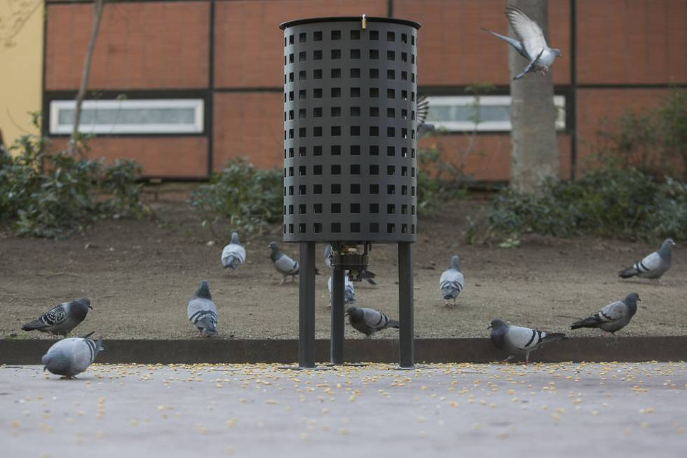 The new dispensers in Barcelona.