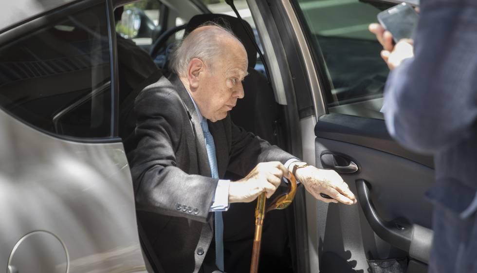 El expresidente Jordi Pujol, en Barcelona.