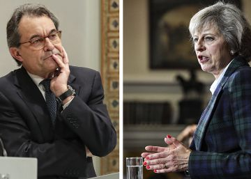 Theresa May como Artur Mas