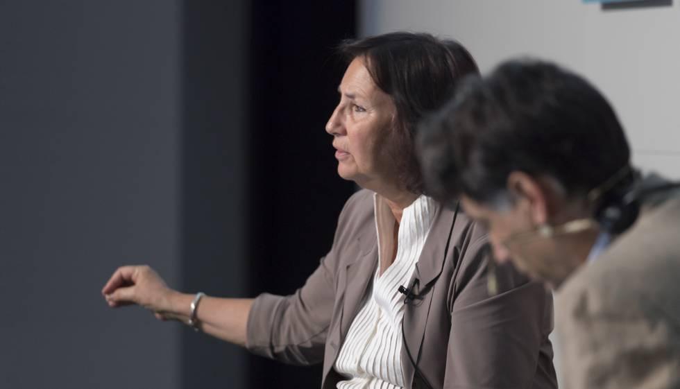 Teresa Cremisi, durante su intervención ayer en el foro Edita Barcelona.