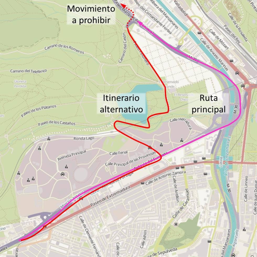 El Ayuntamiento cortará la salida de la Casa de Campo hacia la M-30 ...