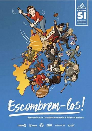 Cartel de la campaña para el referéndum de autodeterminación del 1 de octubre.
