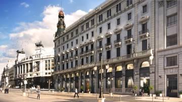 Recreación de la fachada a la calle de Alcalá.