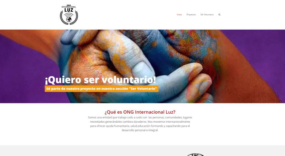 Página web de la ONG Internacional Luz.