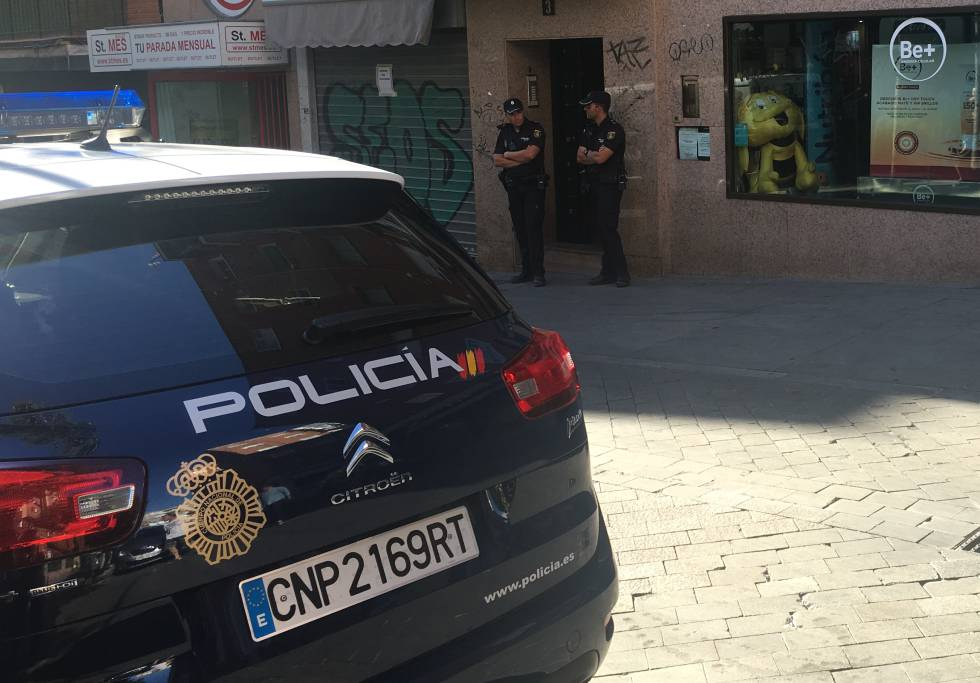 Un coche patrulla en una intervención policial, en una imagen de archivo.