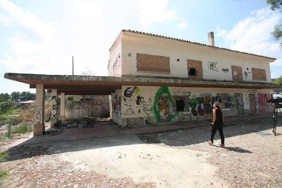 El restaurante abandonado en Riudecanyes.
