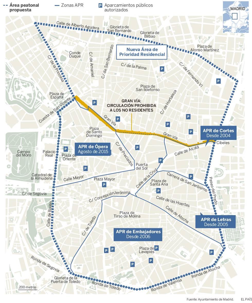 Restricciones Tráfico Madrid Mapa.La Limitacion Al Trafico Privado Bordeara Alberto Aguilera Y