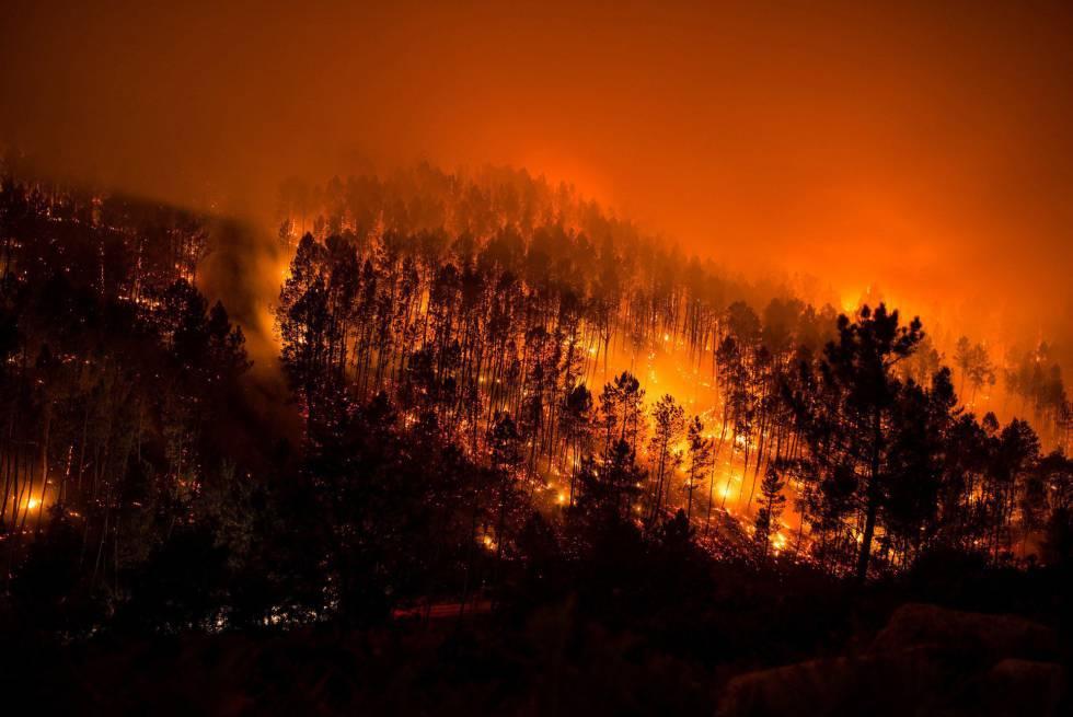 Los fuegos del parque del Xurés siguen activos tras arrasar cerca de 1.000  hectáreas | Galicia | EL PAÍS