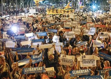 Independencia de catalu a la campa a para retirar dinero for Cajeros caixa catalunya