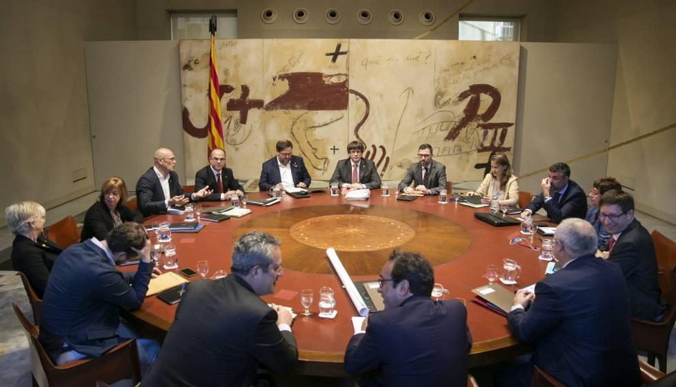 Reunión del Consell de Govern de la Generalitat este martes.