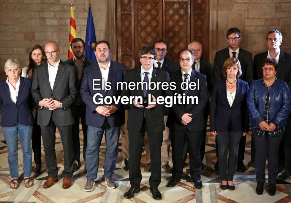 Imagen de la nueva web del Govern destituido.