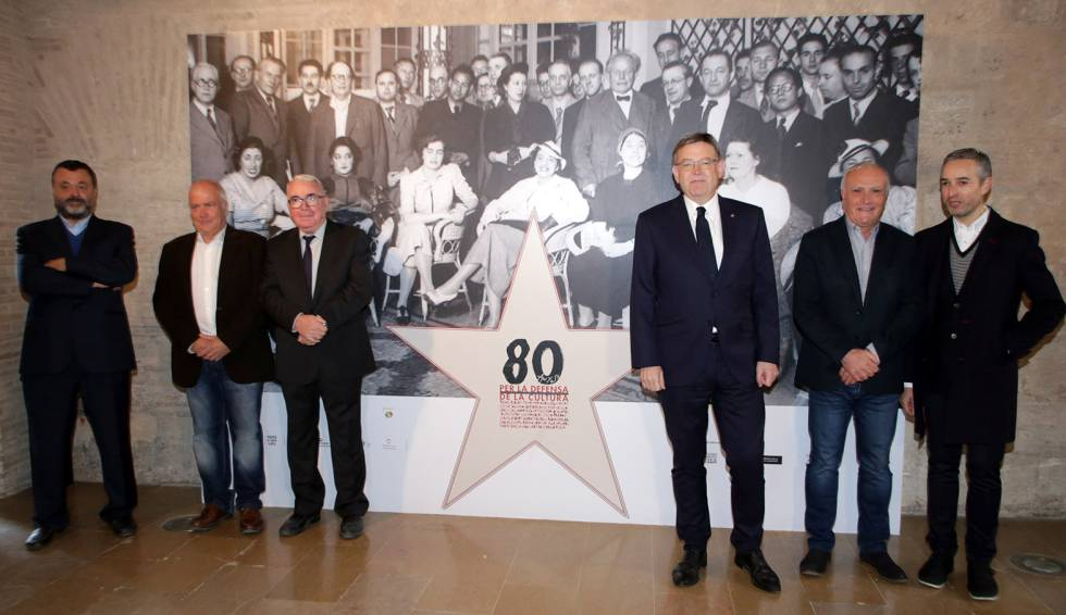 El presidente valenciano Ximo Puig durante la apertura de la exposición y el congreso en el Centre del Carme.