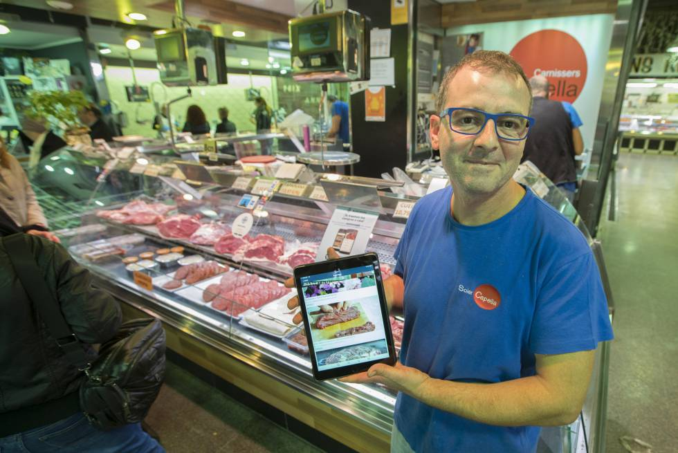 Las 'apps' bajan a comprar a los mercados de Barcelona