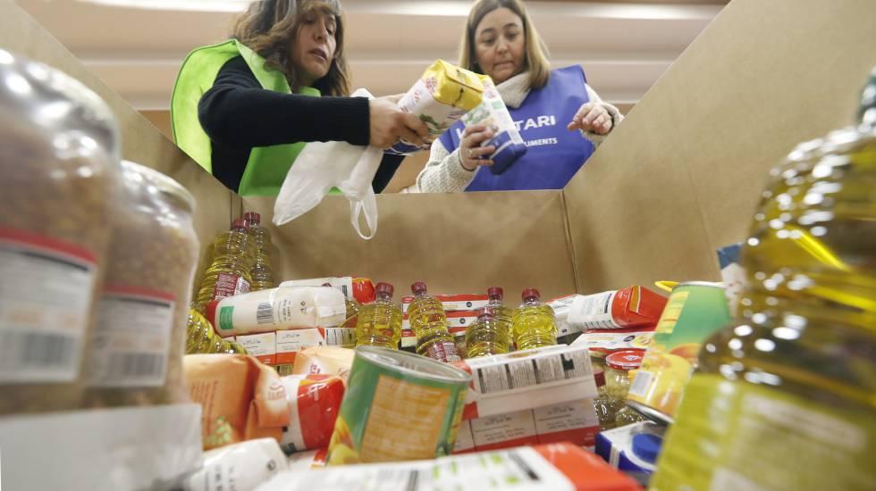 el banco de alimentos pide voluntarios para clasificar las