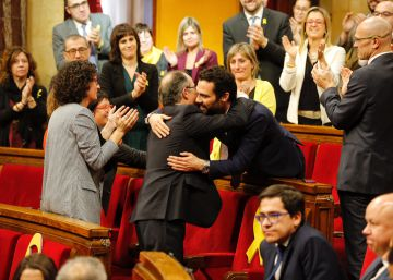 Roger Torrent, un valor del fortín independentista al frente del Parlament