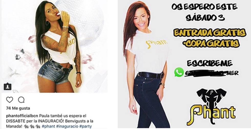 c66a13667683a Dos publicaciones de la discoteca Phant en su cuenta de Instagram.