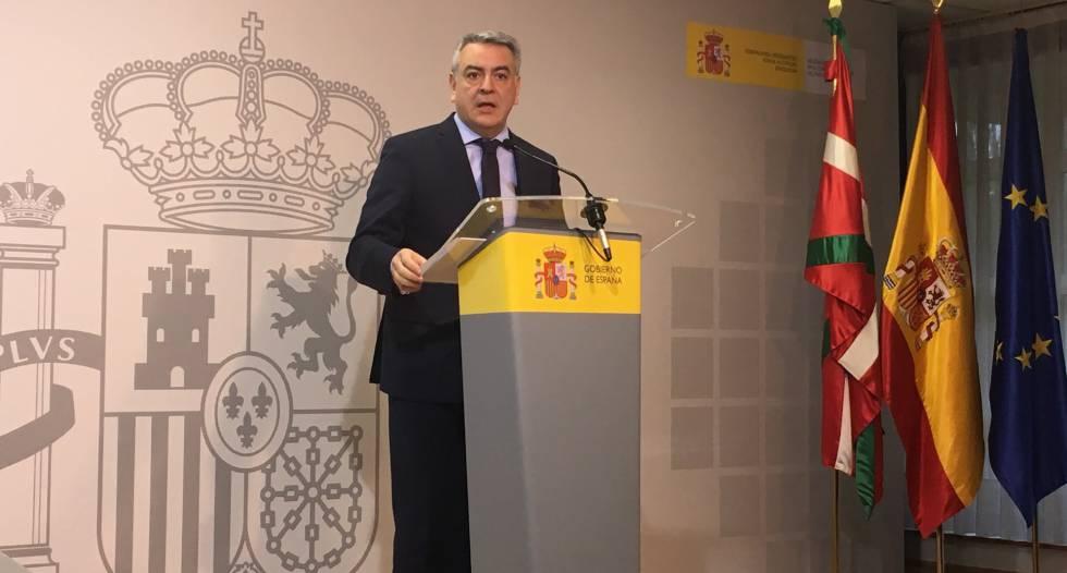 El delegado del Gobierno central en el País Vasco, Javier de Andrés.