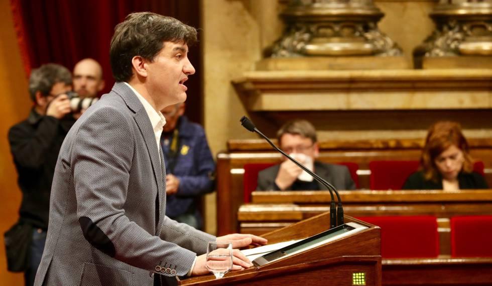 El portavoz de ERC en el Parlament, Sergi Sabrià.