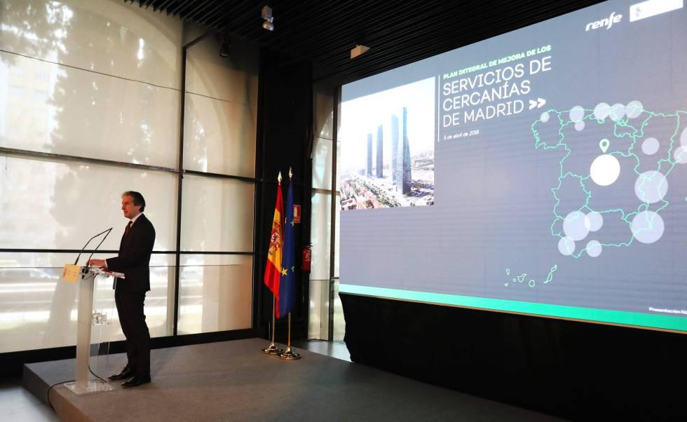 Presentación del plan de Cercanías de Madrid presentado por Íñigo de la Serna.