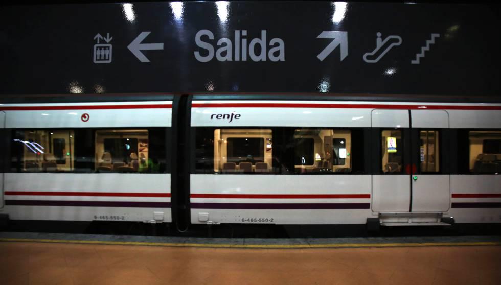 Un tren del Cercanías de Madrid.