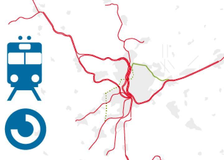 GRÁFICO: Principales actuaciones previstas en la red de cercanías de Madrid