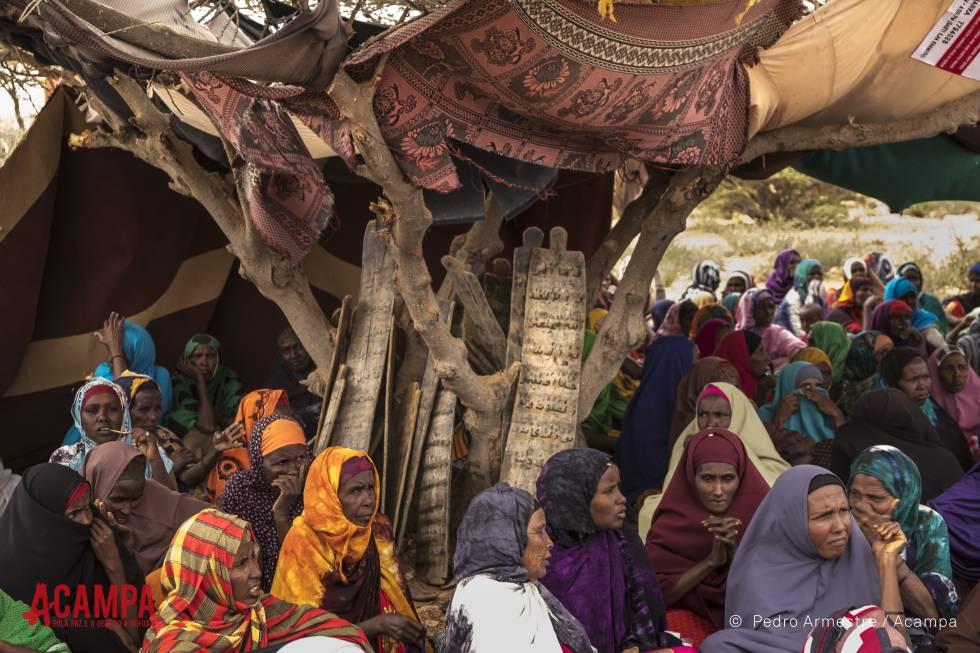 Mujeres en una región de Somalia azotada por la hambruna.
