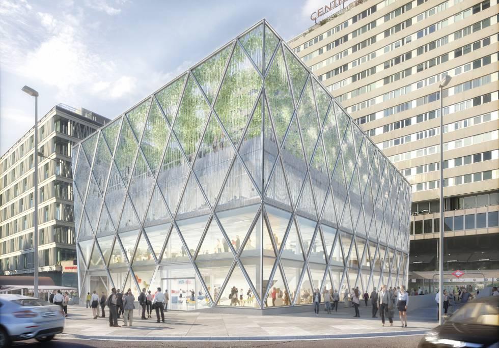 Foster redise a con acero y vidrio el edificio barclays de for Barclays oficinas madrid