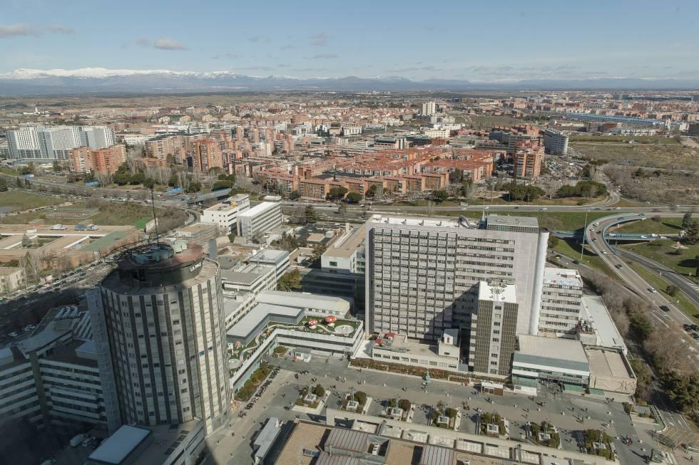 Vista aérea del hospital La Paz.