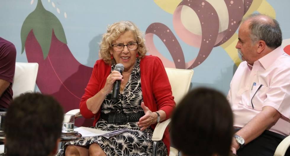 La alcaldesa de Madrid, Manuela Carmena, en el Ayuntamiento el 20 de julio de 2018.