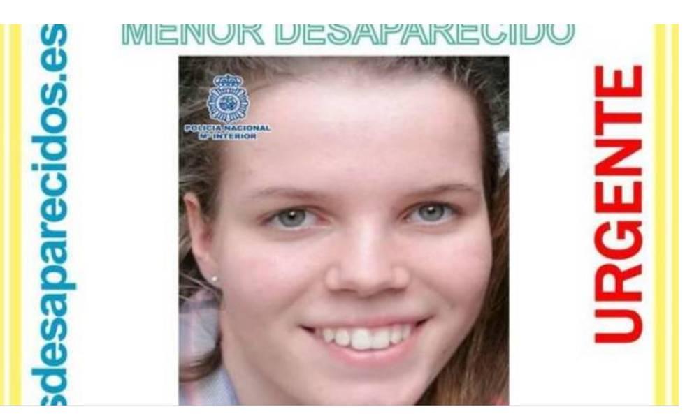 Foto publicada por la Policía con el rostro de Alenka Yumara, desaparecida hace diez días.
