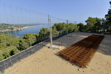 Material de construcción en Begur.