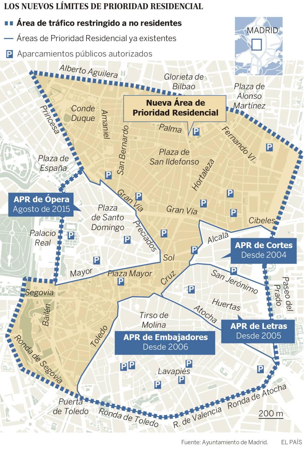 Restricciones Tráfico Madrid Mapa.Las Restricciones De Acceso A Madrid Central Comenzaran El