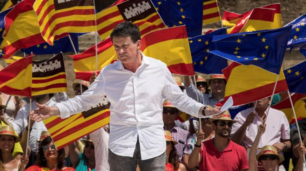 Manuel Valls At A Pro Unity Event In Palma De Mallorca