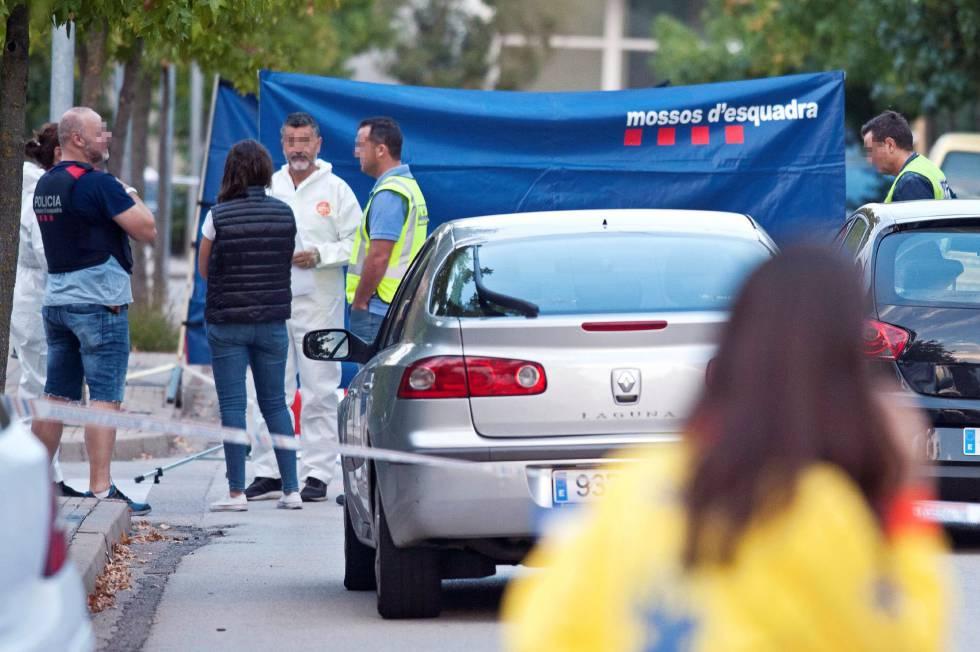 Operativo policial tras el homicidio en Sant Joan Les Fonts.