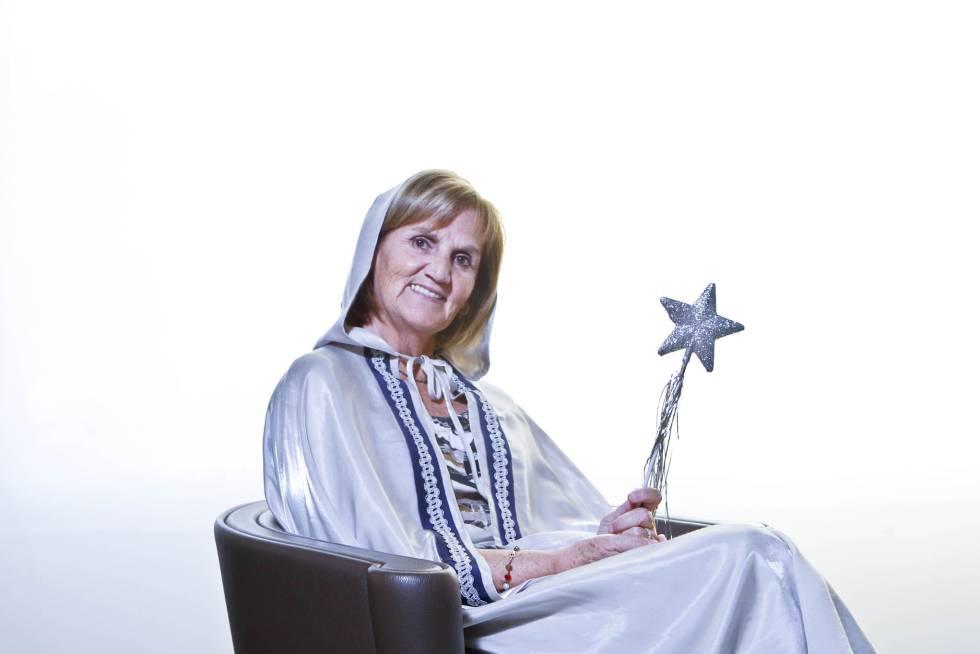 Núria de Gispert disfrazada de hada en 2011.