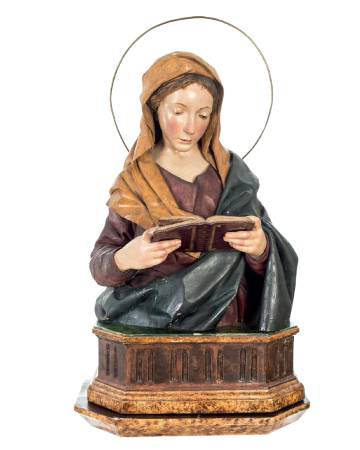 'Virgen leyendo' de Ramón Amadeu.