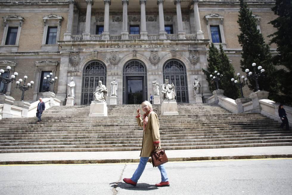 Fachada de la Biblioteca Nacional de España.