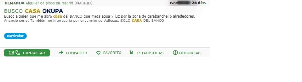 Okupas Vendo Piso De Banco Para Okupar Pago En Metalico Madrid