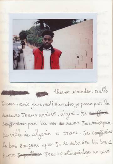 Uno de los participantes del taller de Málaga con migrantes llegados en patera.