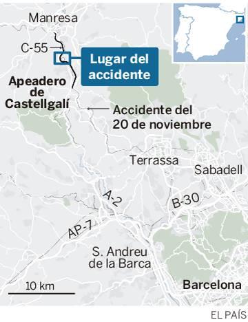 Una maquinista fallecida y un centenar de heridos en un accidente de dos trenes de Cercanías entre Manresa y Sant Vicenç de Castellet
