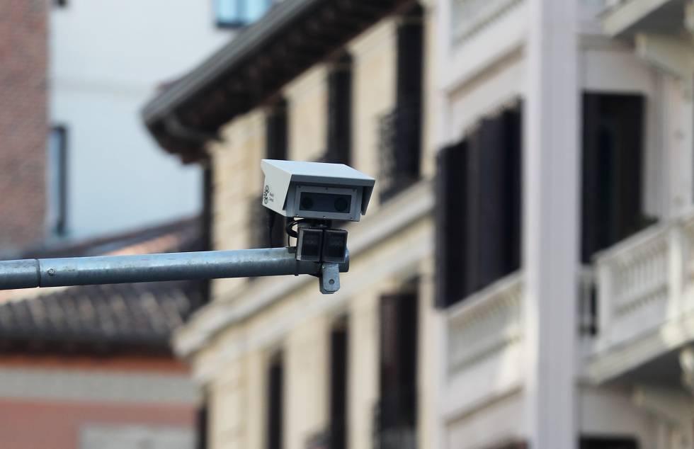 Cámaras para controlar automáticamente el acceso a Madrid Central.