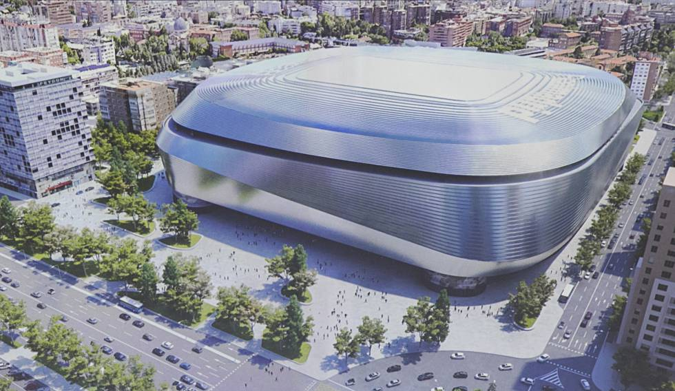 Recreation of the Santiago Bernabéu reform project