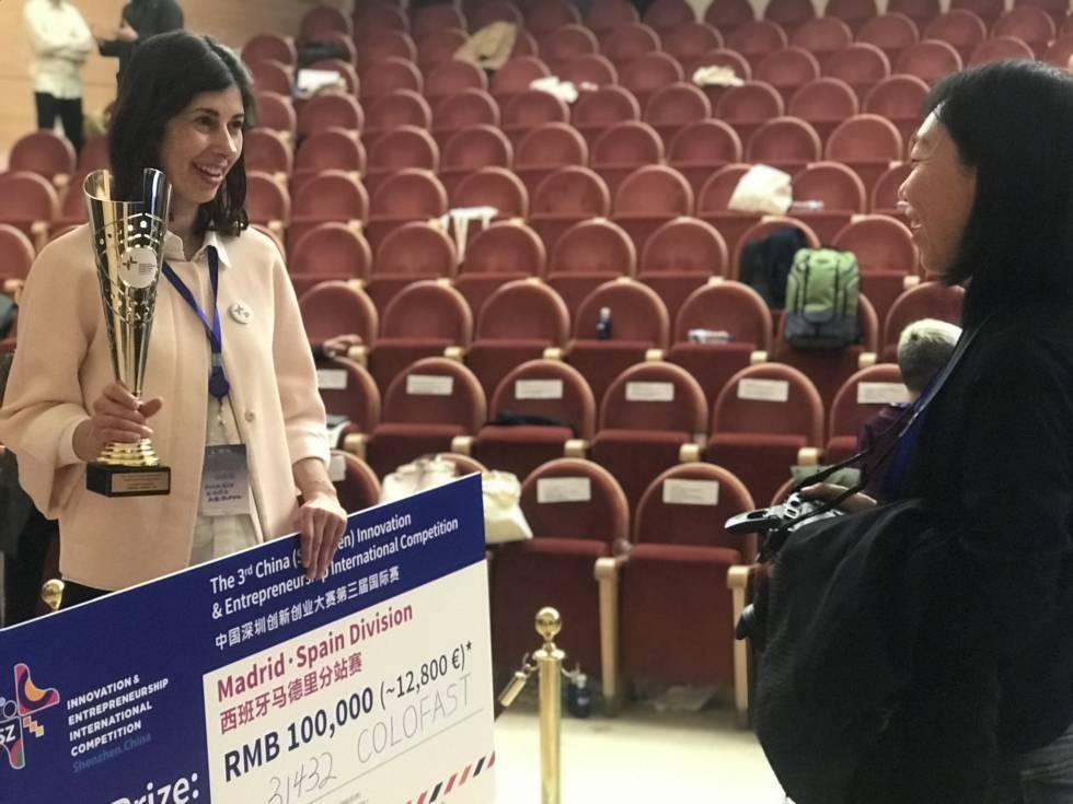 Rocío Arroyo, tras recibir el premio