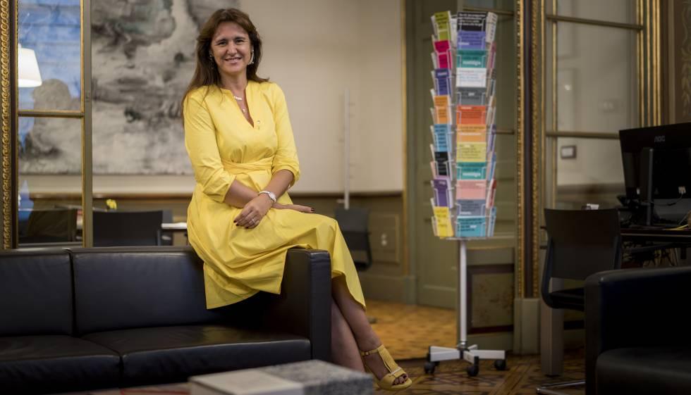 Laura Borràs, el passat juliol al seu despatx de la conselleria.