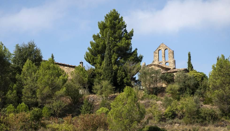 Iglesia de Sant Pere de Vallhonesta en Sant Vicenç de Castellet.