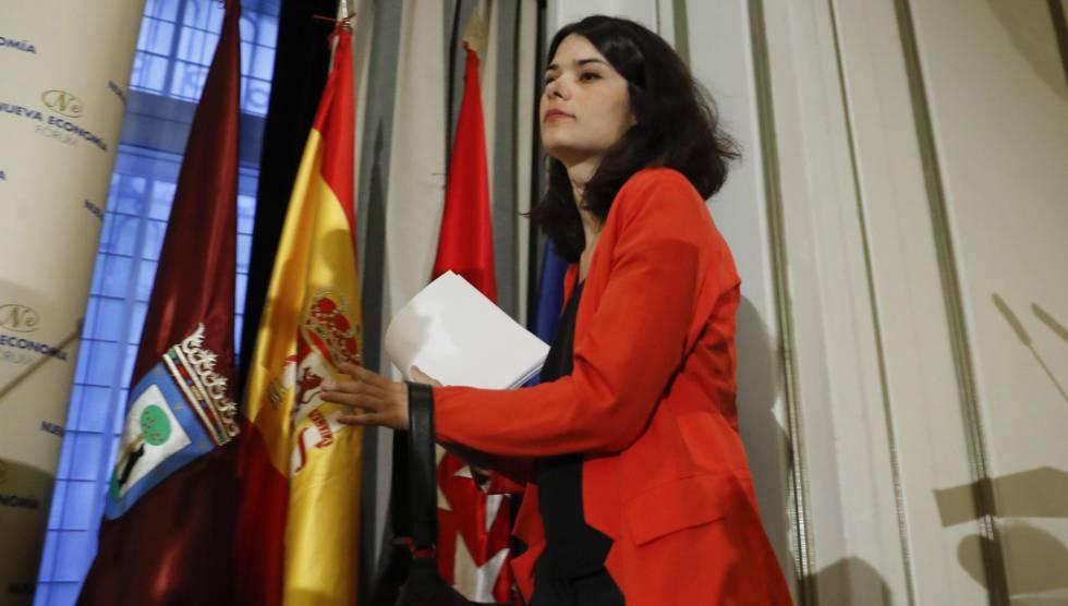 Isabel Serra, candidata por Unidas Podemos-Izquierda Unida-Madrid en Pie a la Presidencia de Madrid.