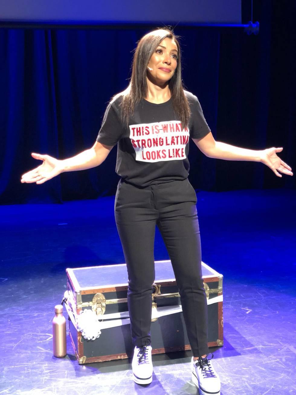 Paula Arcila durante el espectáculo.